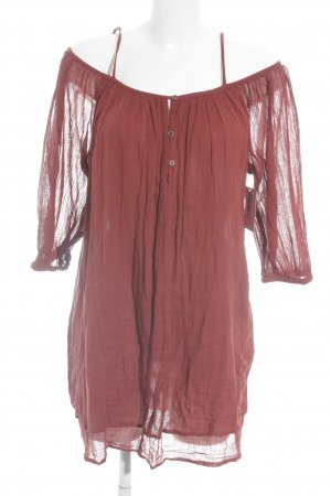 Mango casual Langarm-Bluse rostrot Beach-Look