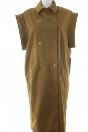 Mango casual Lange Jacke camel Street-Fashion-Look