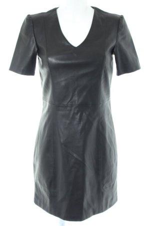 Mango casual Leather Dress black elegant