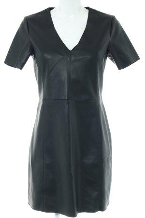 Mango casual Leren jurk zwart extravagante stijl