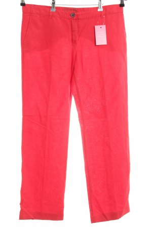 Mango casual Linen Pants red casual look