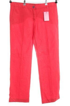 Mango casual Linnen broek rood casual uitstraling