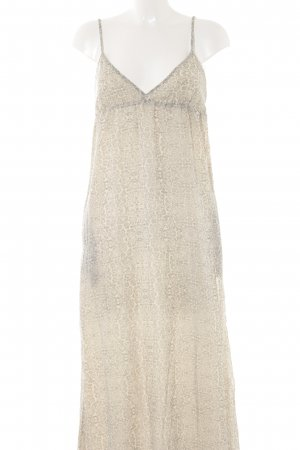 Mango casual Maxikleid creme-grau Allover-Druck Beach-Look