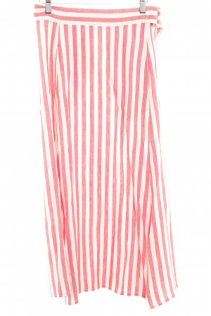 Mango casual Maxi Skirt bright red-natural white striped pattern beach look