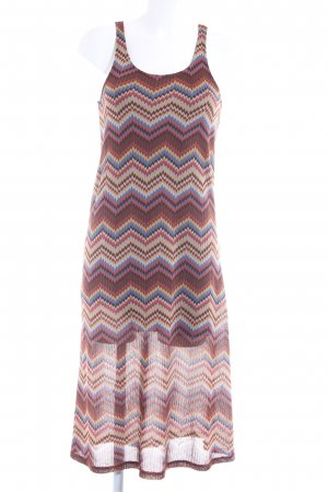 Mango casual Midi Dress zigzag pattern Aztec print