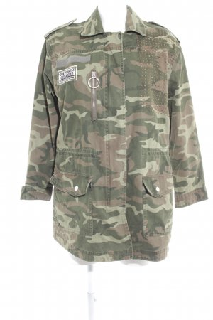 Mango casual Militair jack camouflageprint militaire uitstraling