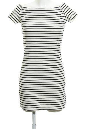 Mango casual Minikleid weiß-schwarz Streifenmuster Business-Look