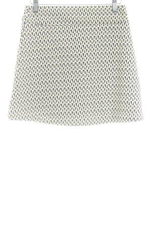 Mango casual Minirock weiß-schwarz grafisches Muster Casual-Look
