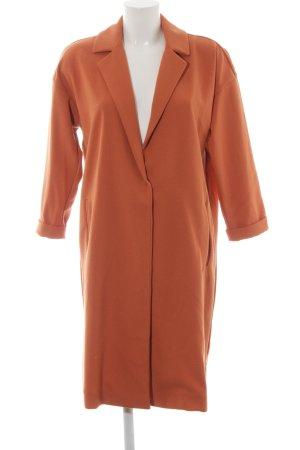 Mango casual Oversized Mantel dunkelorange Street-Fashion-Look