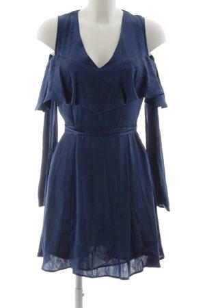 Mango casual schulterfreies Kleid blau Casual-Look