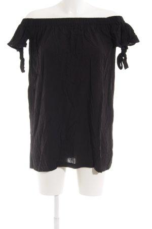 Mango casual schulterfreies Kleid schwarz Beach-Look