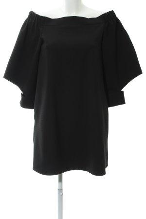 Mango casual schulterfreies Kleid schwarz Casual-Look