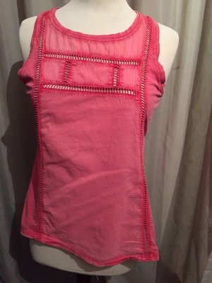 Mango Casual Shirt Top rosa pink washed out Gr. S