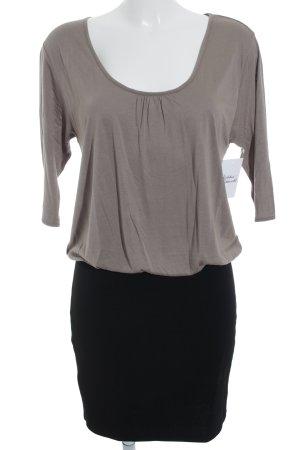Mango casual T-shirt jurk grijs-bruin-zwart straat-mode uitstraling