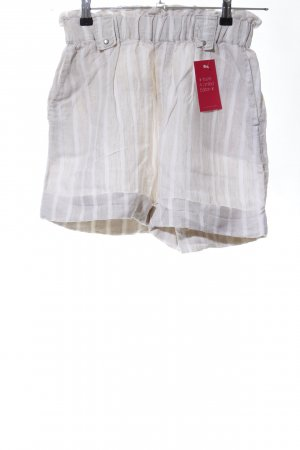 Mango casual Shorts light grey-white striped pattern casual look