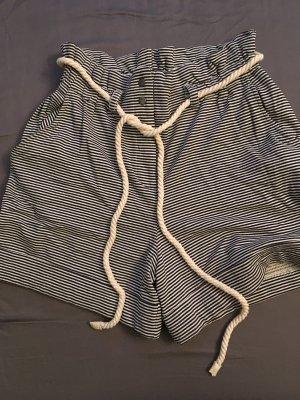 Mango Casual Sportswear High-Waist-Shorts white-dark blue