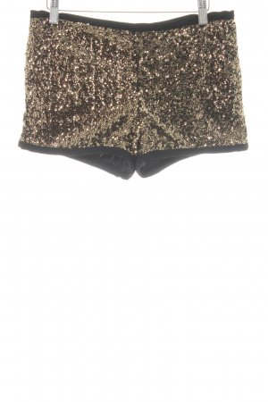 Mango casual Shorts black-gold-colored extravagant style