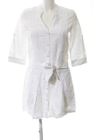 Mango Casual Sportswear Blusenkleid weiß Casual-Look