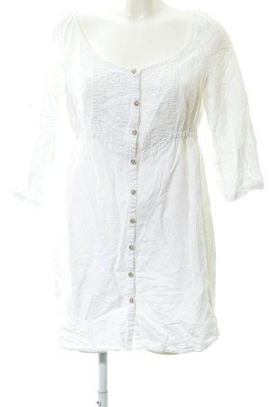 Mango Casual Sportswear Blusenkleid wollweiß Boho-Look
