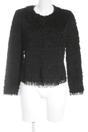 Mango Casual Sportswear Cardigan schwarz extravaganter Stil