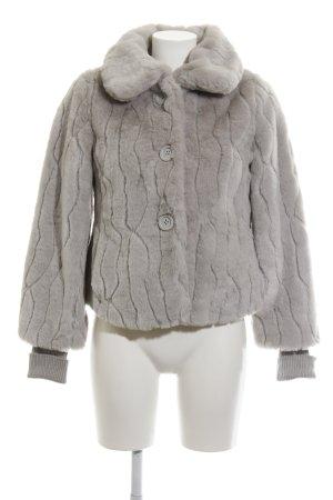 Mango Casual Sportswear Giacca di pelliccia grigio chiaro stile stravagante