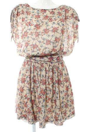 Mango Casual Sportswear Jerseykleid Blumenmuster Casual-Look