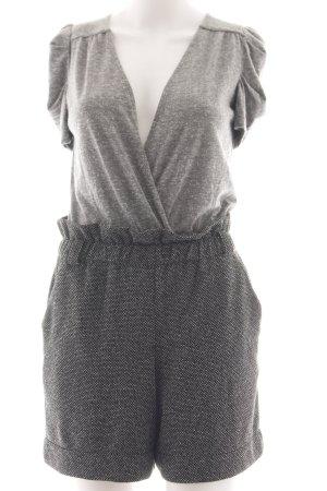 Mango Casual Sportswear Jumpsuit hellgrau meliert Business-Look