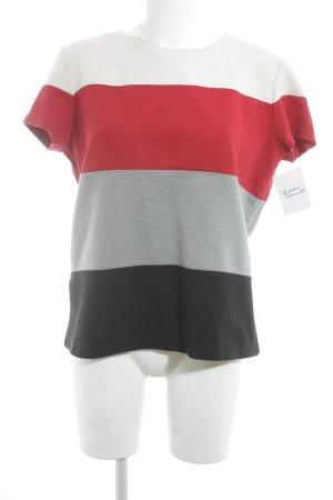 Mango Casual Sportswear Kurzarm-Bluse Streifenmuster Casual-Look