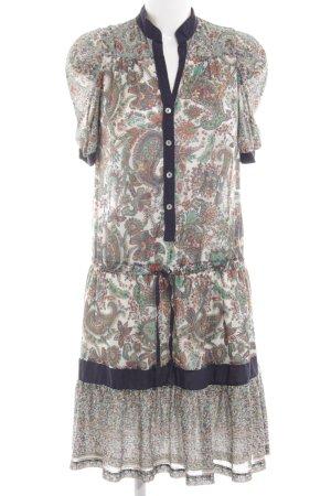 Mango Casual Sportswear Kurzarmkleid Allover-Druck Casual-Look