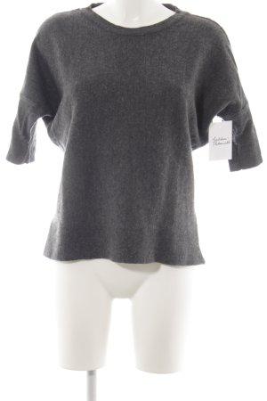 Mango Casual Sportswear Kurzarmpullover dunkelgrau Casual-Look