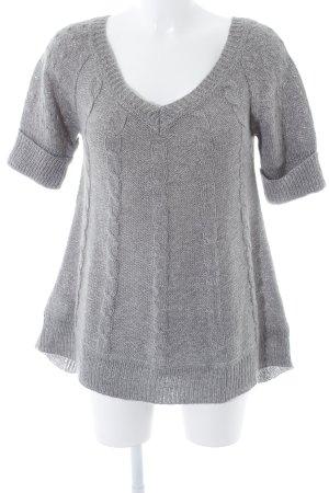 Mango Casual Sportswear Jersey de manga corta gris punto trenzado