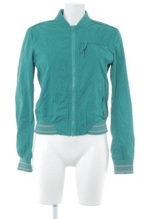 Mango Casual Sportswear Kurzjacke waldgrün-grau College-Look