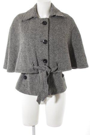 Mango Casual Sportswear Kurzmantel schwarz-weiß Zackenmuster Casual-Look