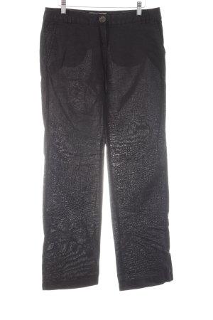 Mango Casual Sportswear Linnen broek zwart casual uitstraling