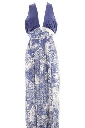 Mango Casual Sportswear Maxikleid wollweiß-stahlblau Casual-Look