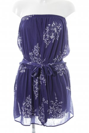 Mango Casual Sportswear Minikleid dunkelblau-weiß florales Muster Beach-Look