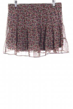Mango Casual Sportswear Minirock lila-hellgrün Blumenmuster Elegant