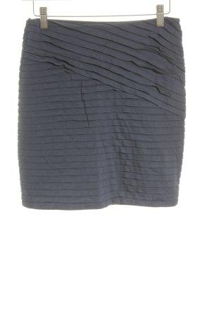Mango Casual Sportswear Minirock stahlblau Streifenmuster schlichter Stil