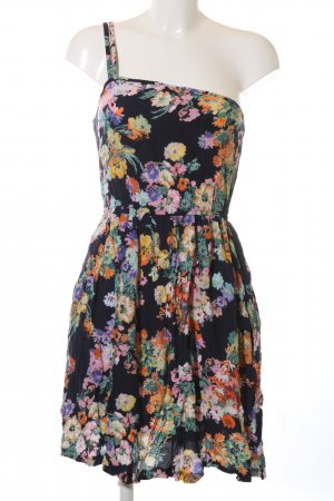Mango Casual Sportswear One Shoulder Dress flower pattern casual look