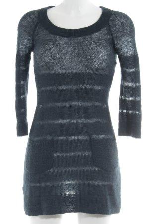 Mango Casual Sportswear Strickkleid dunkelblau Streifenmuster Casual-Look