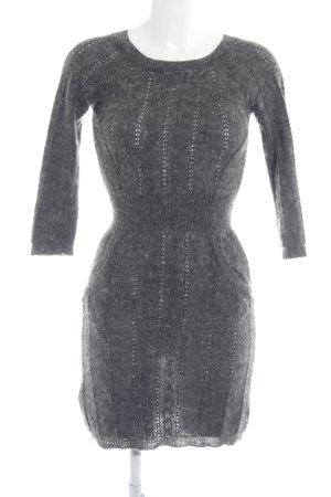Mango Casual Sportswear Strickkleid dunkelgrau meliert Casual-Look