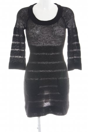 Mango Casual Sportswear Knitted Dress black cable stitch casual look