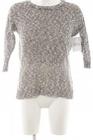 Mango casual Knitted Sweater dark grey-white loosely knitted pattern casual look