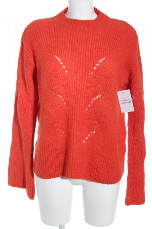 Mango casual Strickpullover rot Webmuster 70ies-Stil