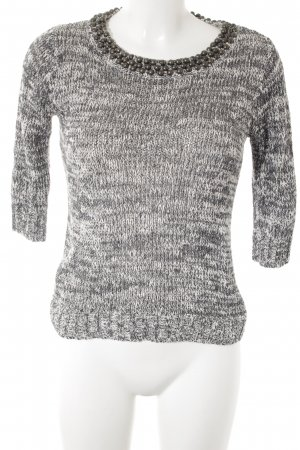 Mango casual Strickpullover taupe-wollweiß meliert Casual-Look