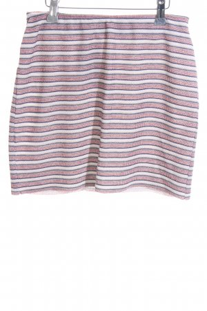 Mango casual Knitted Skirt natural white-red striped pattern casual look