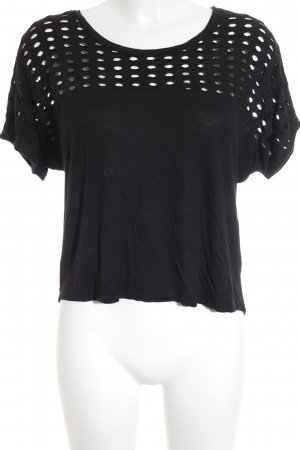Mango casual T-Shirt schwarz Street-Fashion-Look