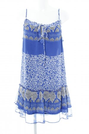 Mango casual Pinafore dress blue-natural white embellished pattern casual look