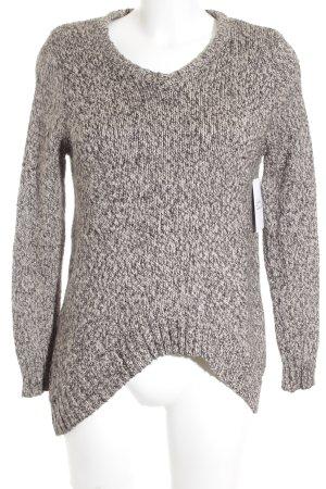 Mango casual V-Ausschnitt-Pullover meliert Street-Fashion-Look