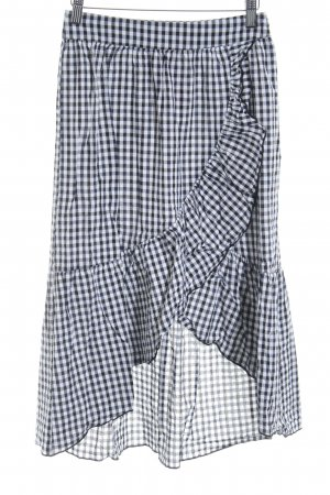 Mango casual Flounce Skirt black-white check pattern casual look